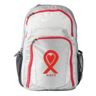 Red Awareness Ribbon Heart Customized Backpack