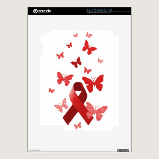 Red Awareness Ribbon iPad 2 Decals