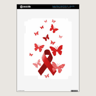 Red Awareness Ribbon iPad 3 Decal