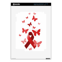 Red Awareness Ribbon iPad 3 Skin