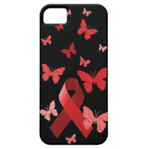 Red Awareness Ribbon iPhone SE/5/5s Case