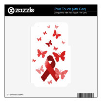 Red Awareness Ribbon iPod Touch 4G Skin