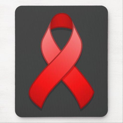 Red Awareness Ribbon Mousepad