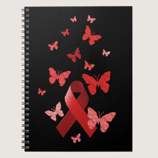 Red Awareness Ribbon Notebook
