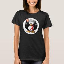 Red Awareness Ribbon Penguin T-Shirt