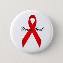 Red Awareness Ribbon Pinback Buttons