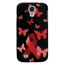Red Awareness Ribbon Samsung Galaxy S4 Case