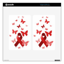 Red Awareness Ribbon Skin For Kindle Fire