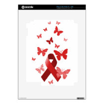 Red Awareness Ribbon Skin For The iPad 2