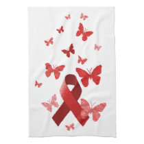Red Awareness Ribbon Towel