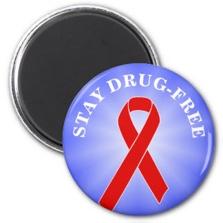 Red Awareness Ribbon + your message 2 Inch Round Magnet