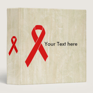 Red Awareness Ribbon   your message Binder