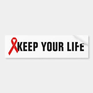 Red Awareness Ribbon + your message Bumper Sticker