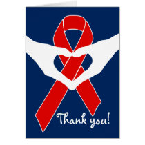 Red Awareness Ribbon   your message Card