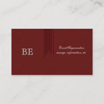 Red Awareness Support Professional Business Cards