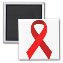 Red Awareness Support Ribbon Magnet