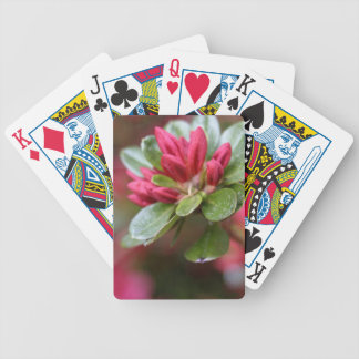 Red Azalea Buds Bicycle Playing Cards