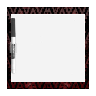 Red Aztec Dry-Erase Board