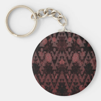 Red Aztec Key Chains
