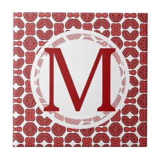 Red Aztec Pattern Ceramic Tiles