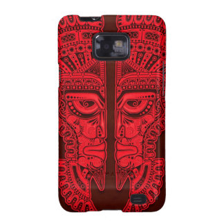 Red Aztec Twins Galaxy SII Covers