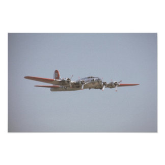 Red B-17 Poster