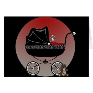 Red Baby Carriage Card