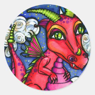 Red Baby Dragon Cute Animal Sticker Sheet