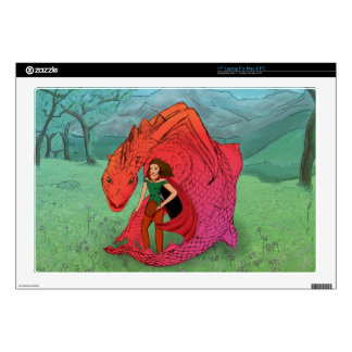 "Red Baby Dragon Decals For 17"" Laptops"