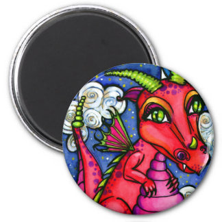 Red Baby Dragon Super Cute Magnet