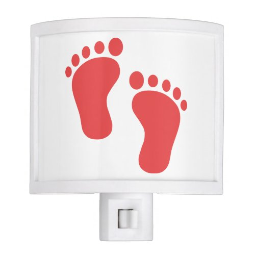 RED BABY FEET NIGHT LIGHT