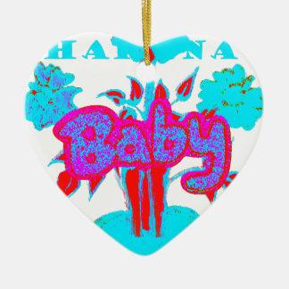 Red Baby kids plant Hakuna Matata Ceramic Ornament