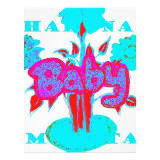 Red Baby kids plant Hakuna Matata Letterhead