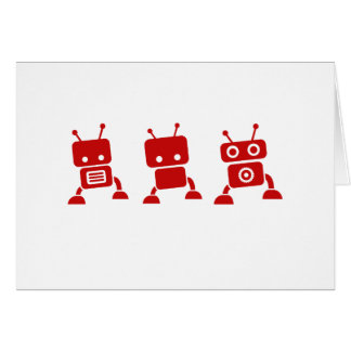 Red Baby Robot Thank You Cards