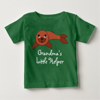 Red Baby Seal Baby T-Shirt