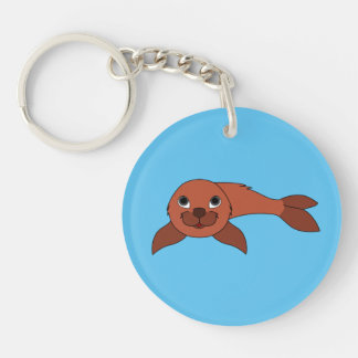Red Baby Seal Keychain