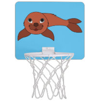Red Baby Seal Mini Basketball Hoop