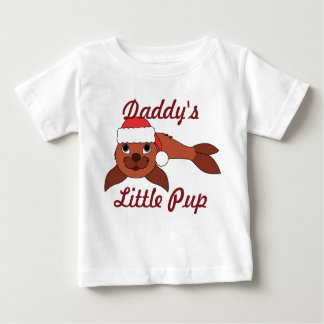 Red Baby Seal with Christmas Red Santa Hat T Shirt