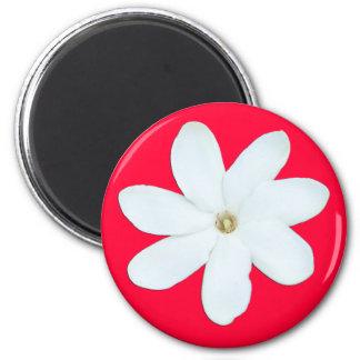 Red Background Flower Magnet