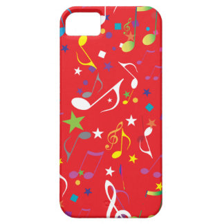 Red Background Music notes icase iPhone SE/5/5s Case