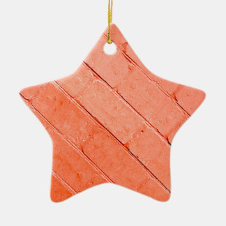 Red background of bricks on a diagonal image ceramic ornament