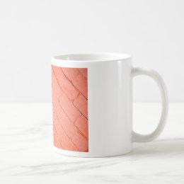 Red background of bricks on a diagonal image coffee mug