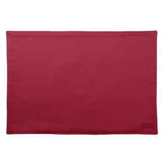 Red Background on a Placemat