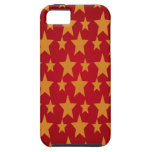 Red Background & Yellow Stars iPhone 5 Cases