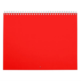Red Backgrounds on a Calendar