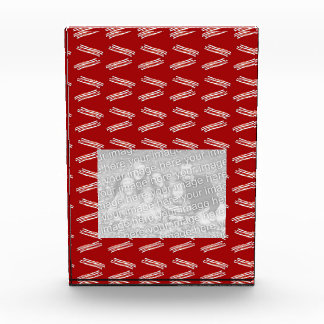 Red bacon pattern acrylic award