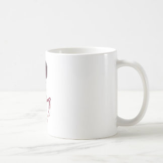 Red bacteriophage coffee mug
