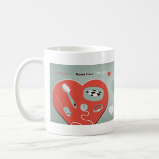"""Red Badge of Kitten"" Pet Sympathy Mug for cat"