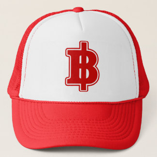 RED BAHT SIGN ฿ Thai Money Currency ฿ Trucker Hat