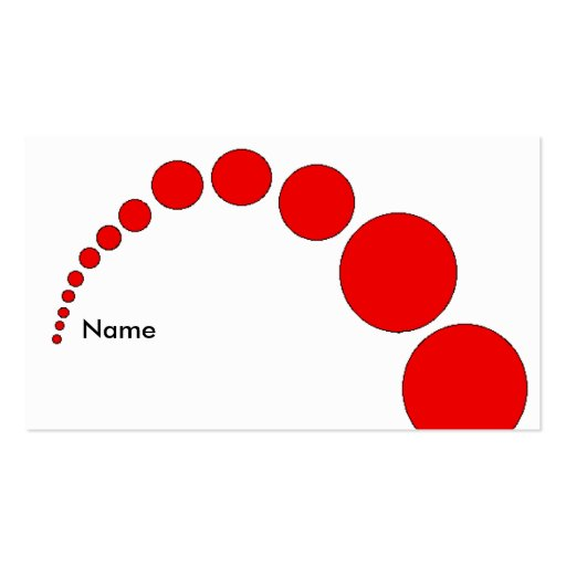 Red Ball Bounce Business Card Template